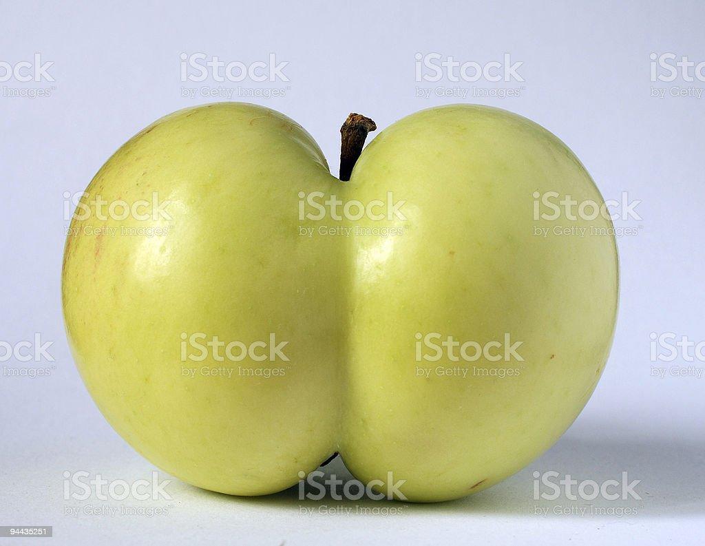 apple of a funny shape  Apple - Fruit Stock Photo