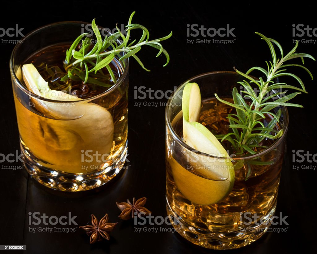 Apple Old Fashioned Beverages for Two - Photo