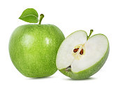 apple on a white