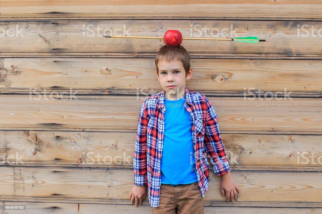 Apfel auf dem Kopf – Foto