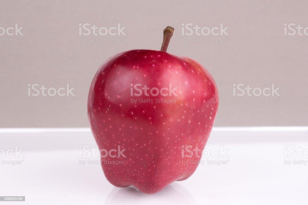 Apple on table stock photo