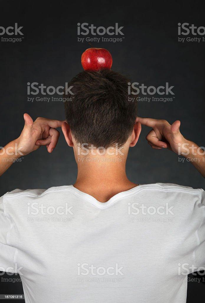 Apple on the Head stock photo