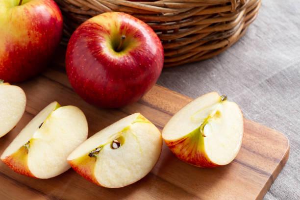 アップルのテーブル ストックフォト