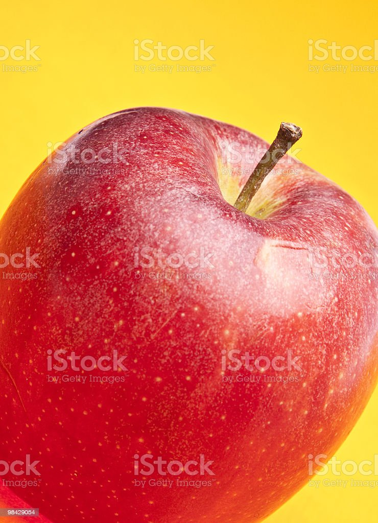Apple on Yellow royalty-free stock photo