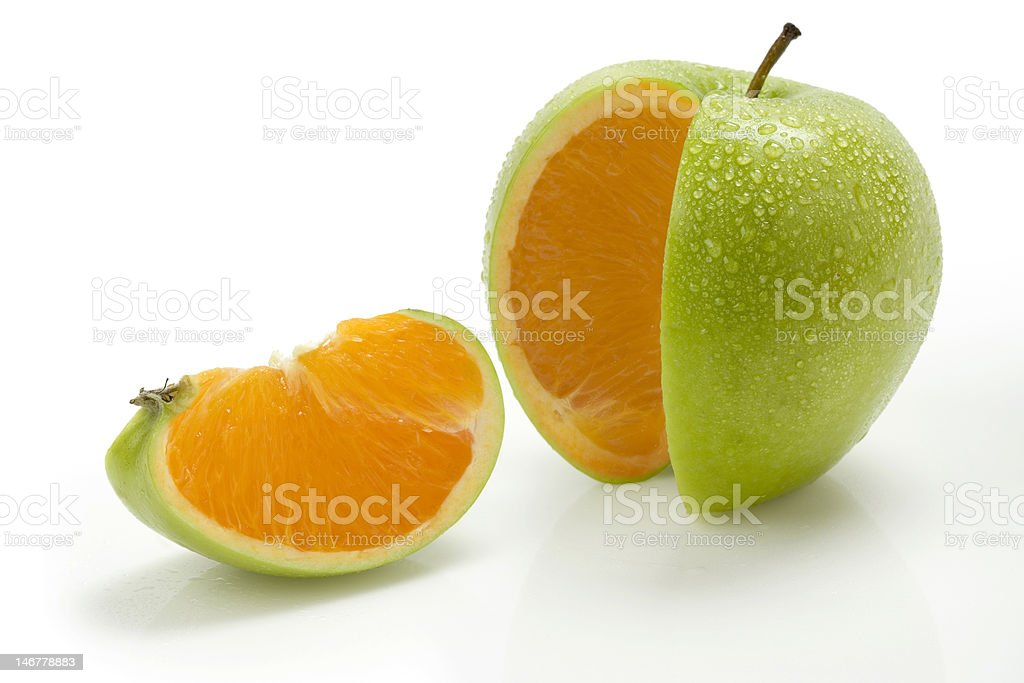 Apple Orange royalty-free stock photo