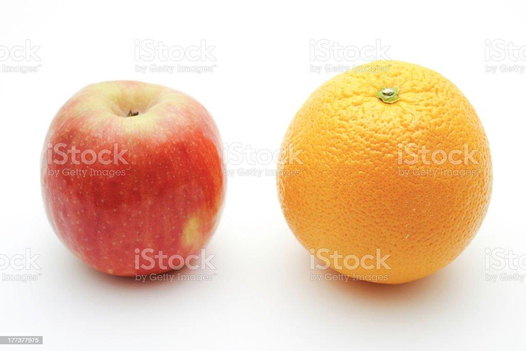Apple & Orange stock photo