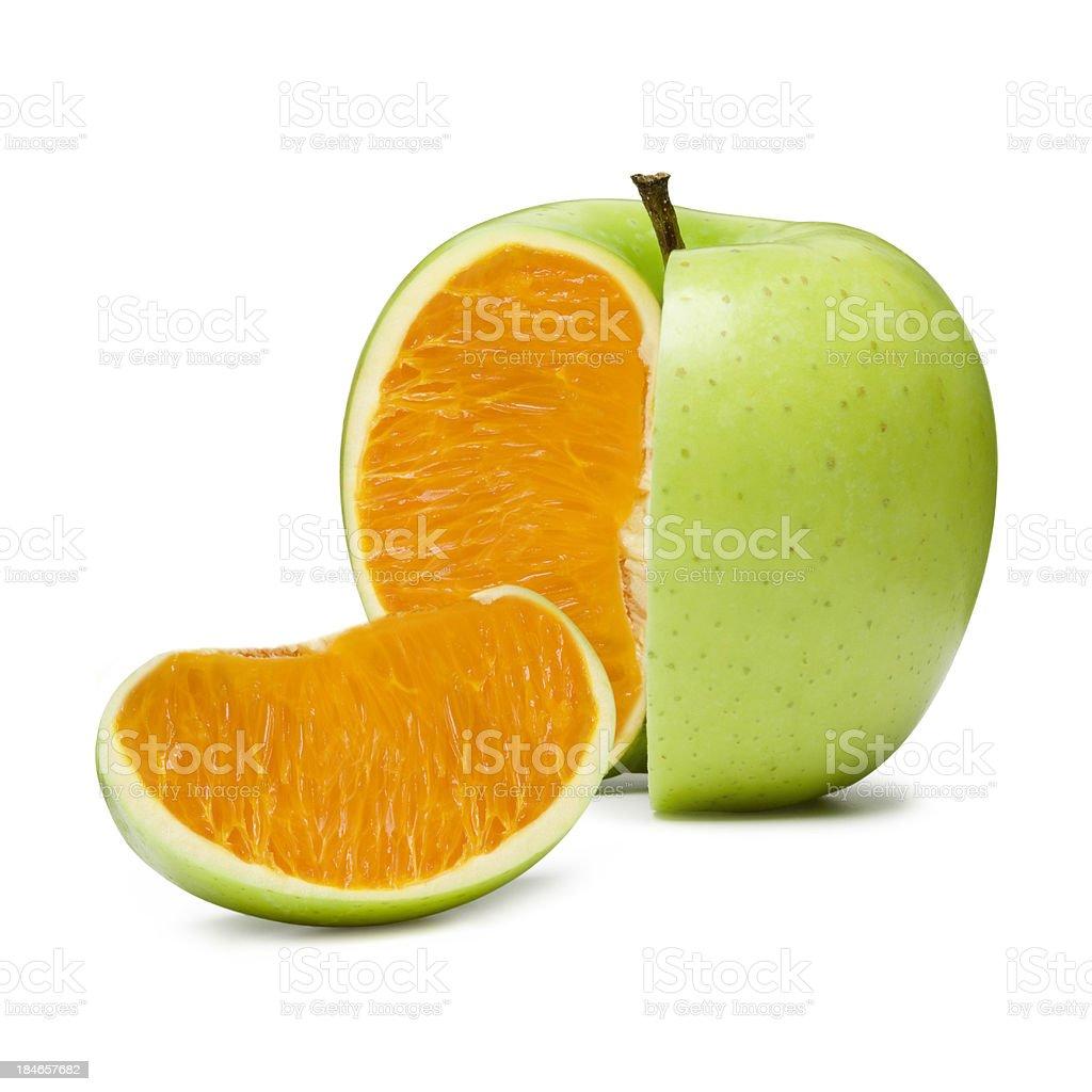 Apple Orange stock photo