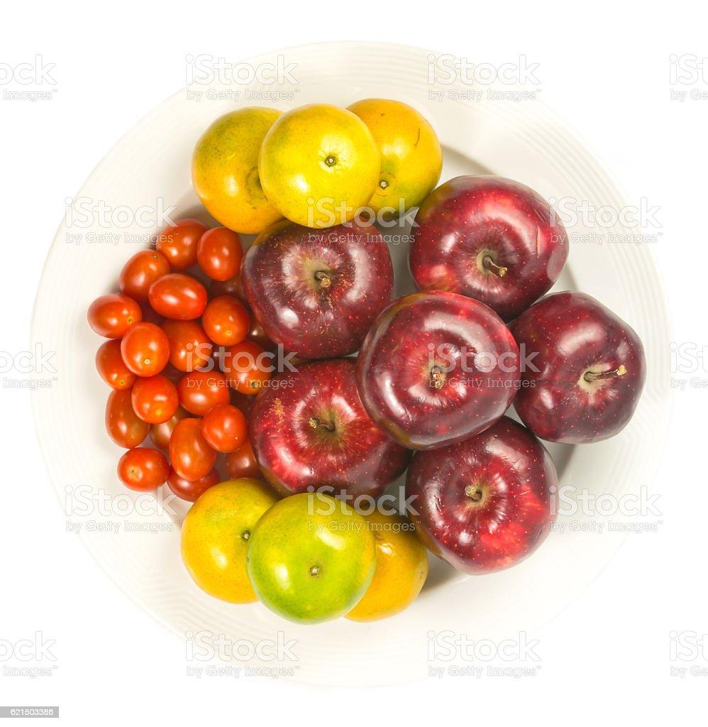 apple, orange, tomato photo libre de droits