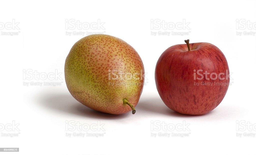 Apple & Gruszka zbiór zdjęć royalty-free