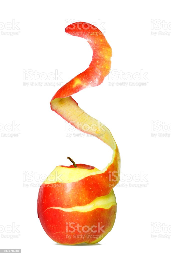 Apple Peel stock photo