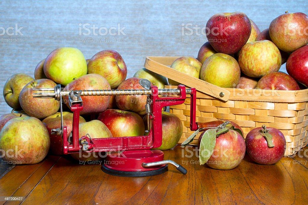 Apple Peeler and Corer stock photo