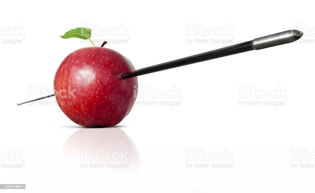 apple perforated royalty-free stock photo