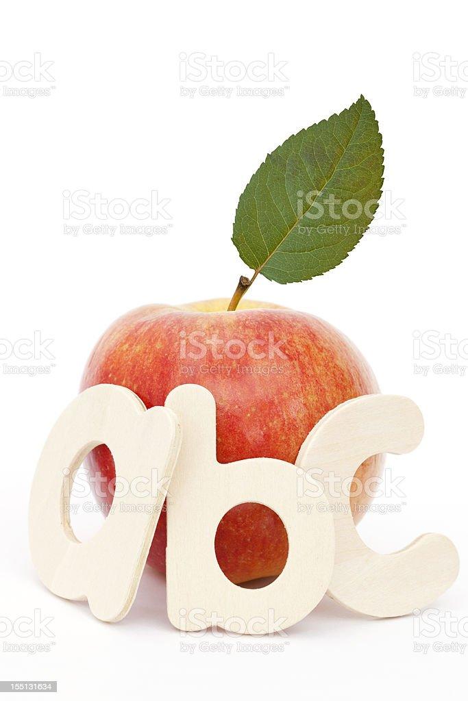 ABC Apple royalty-free stock photo