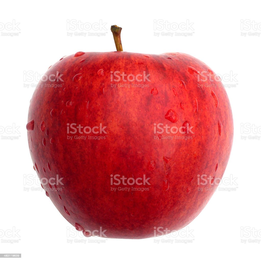 Apple (front view) royalty-free stock photo