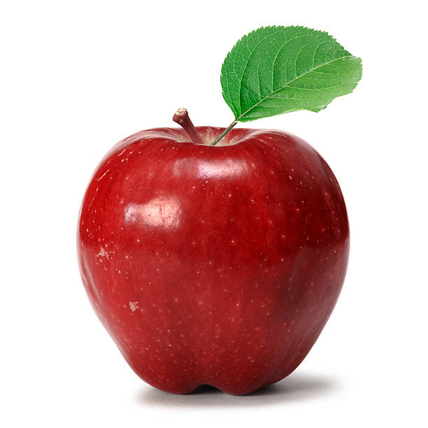 Apple Red apple over white background red delicious apple stock pictures, royalty-free photos & images