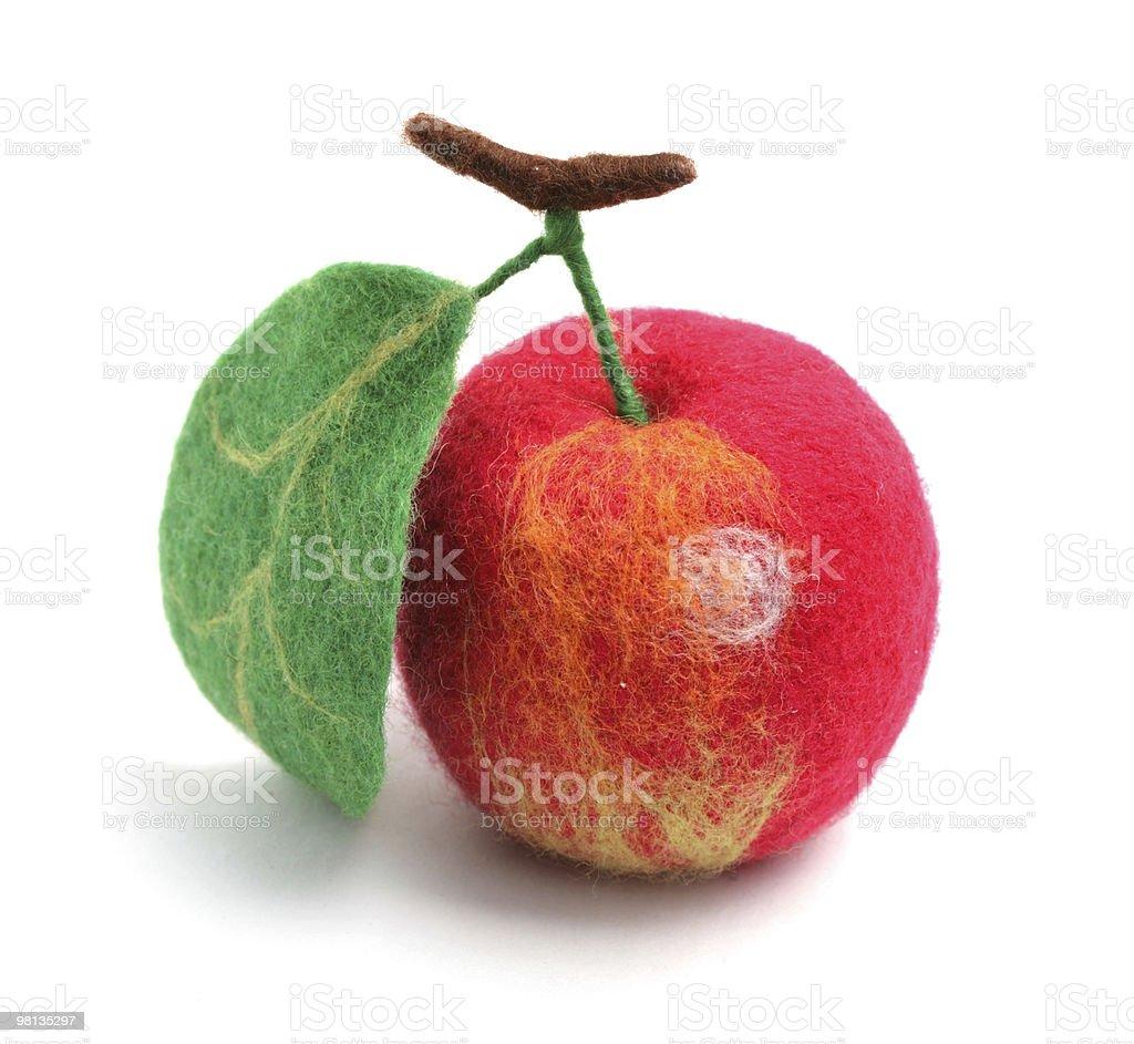 Apple (toy from a wool) royalty-free stock photo