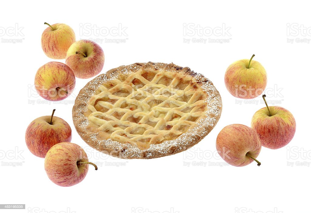 Apple pie and apples royalty-free stock photo