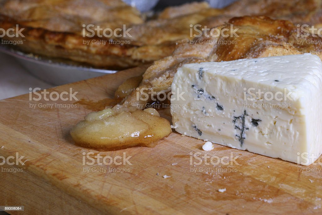 Apple Pie and Cheese royalty free stockfoto