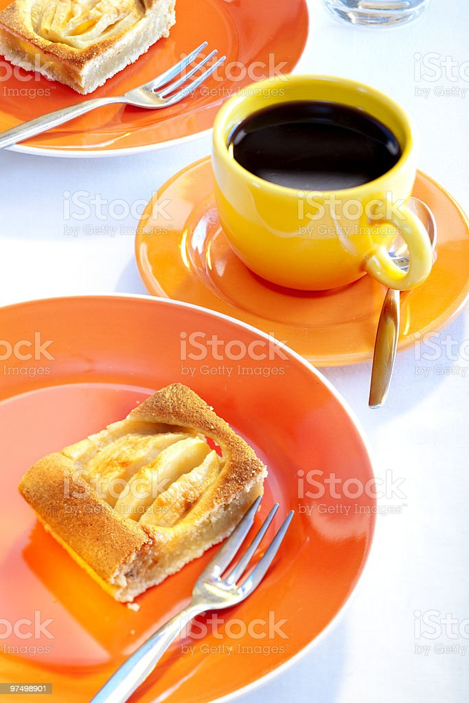 apple pie and coffee royalty-free stock photo