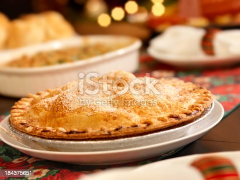 Apple Pie at Christmas Dinner -Photographed on Hasselblad H3D2-39mb Camera