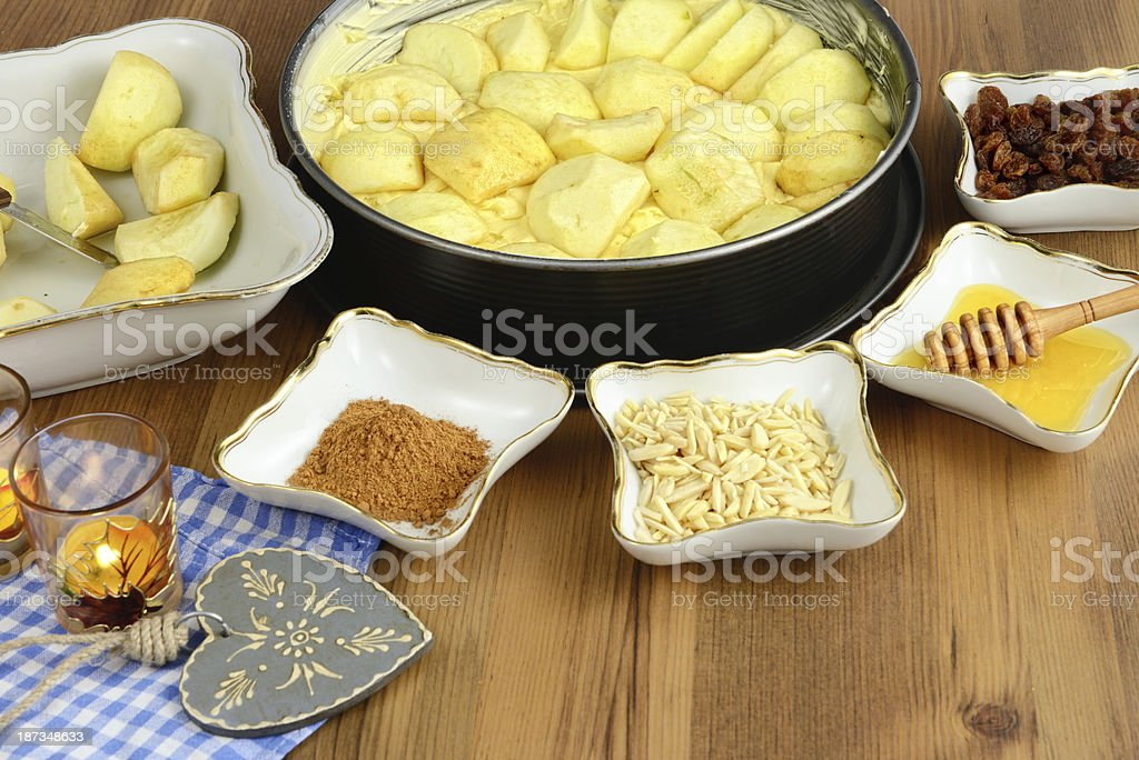 Apple pie baking. royalty-free stock photo