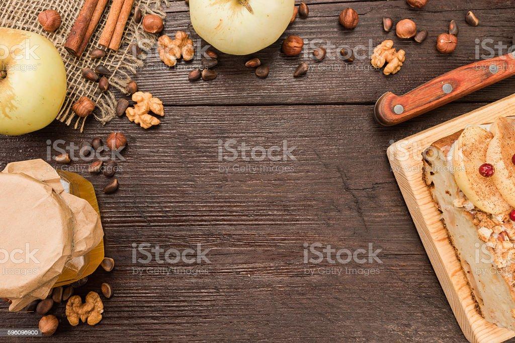 Apple pie closeup royalty-free stock photo