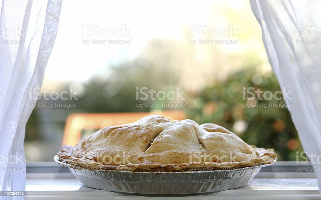 Apple Pie  - Cooling in Window stock photo