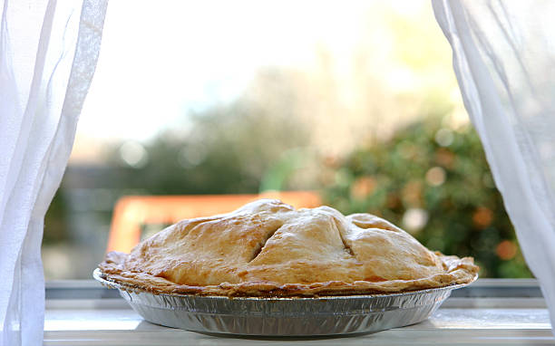 Apple Pie  - Cooling in Window stock photo