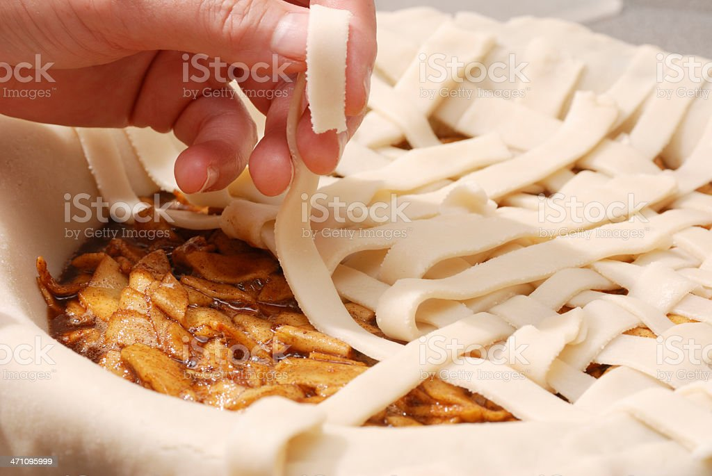 Apple Pie crust royalty-free stock photo