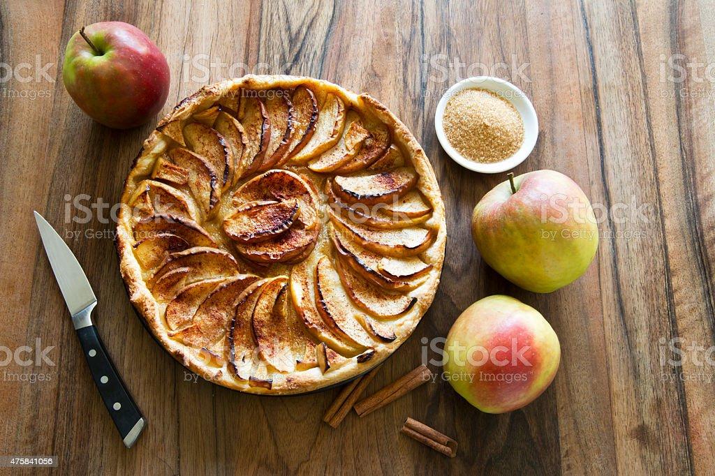 apple pie favorite sweet desert at the table