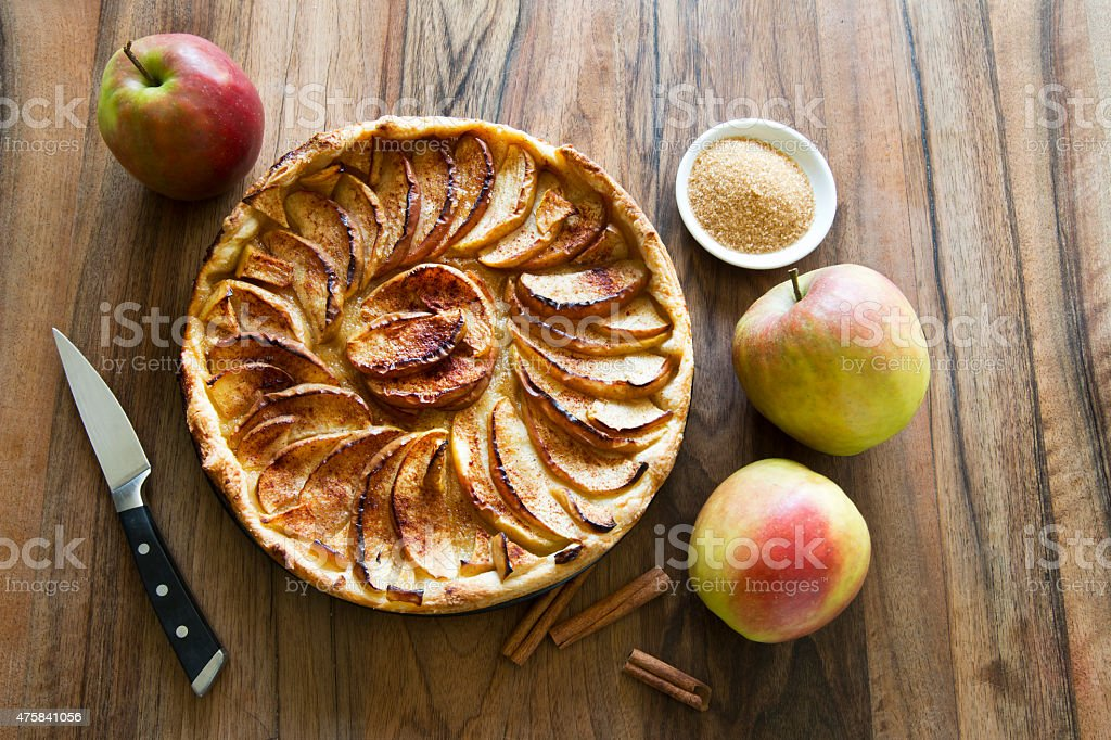 apple pie favorite sweet deser stock photo