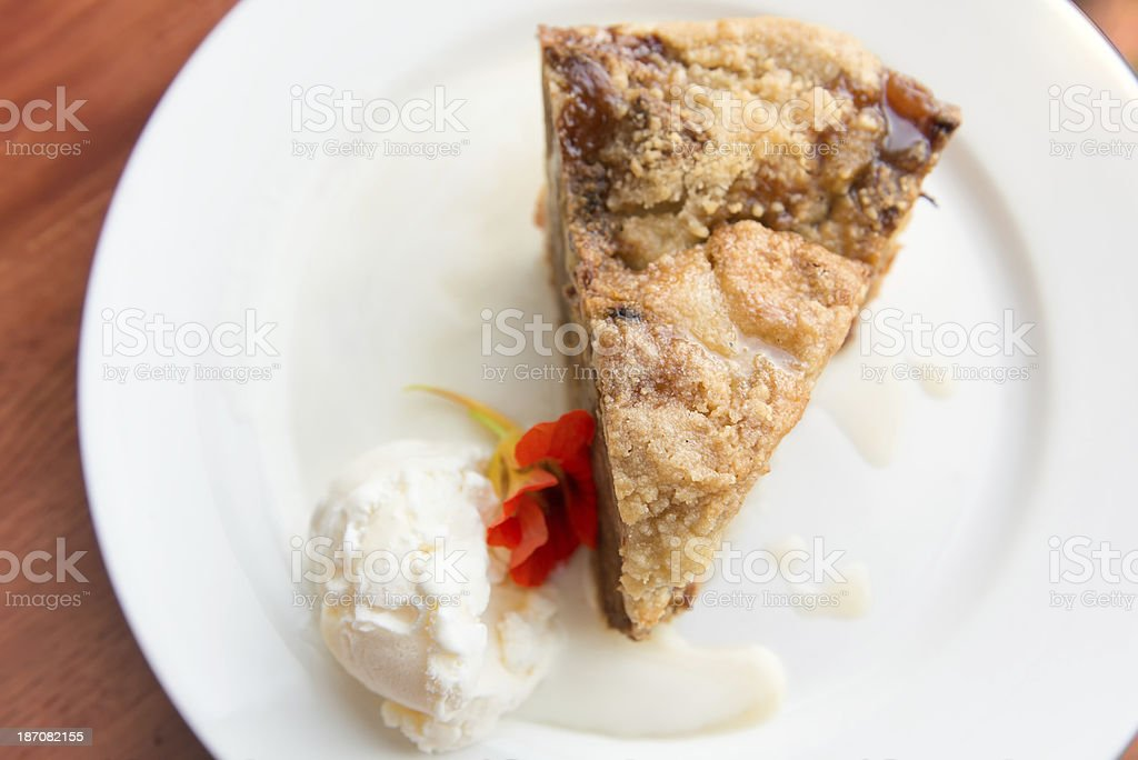 Apple Pie & Ice Cream royalty-free stock photo
