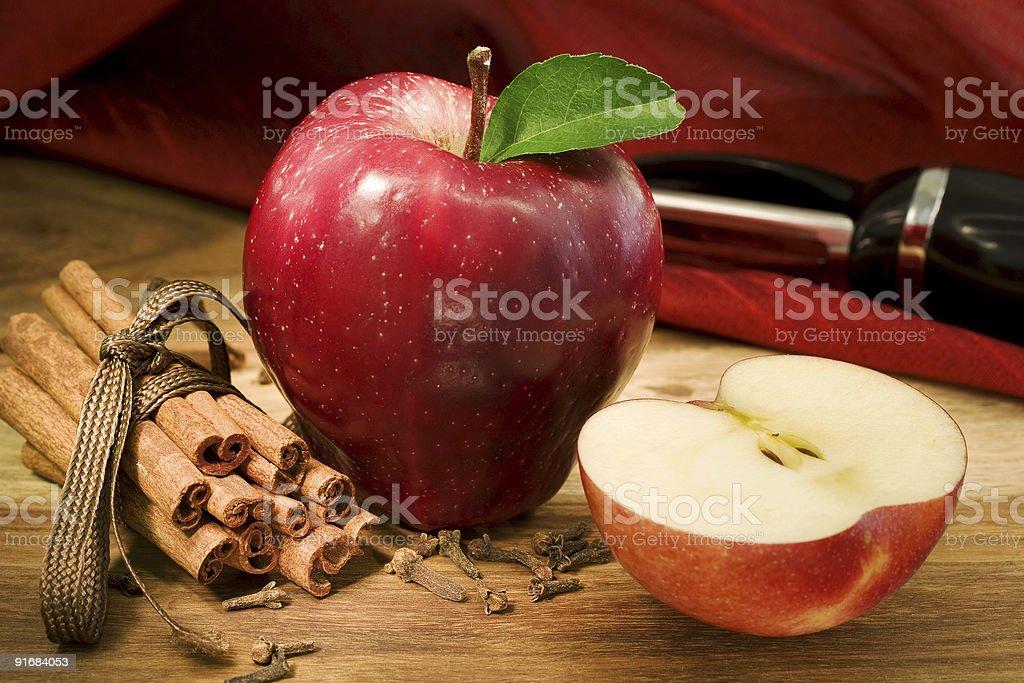 Apple pie ingredients royalty-free stock photo