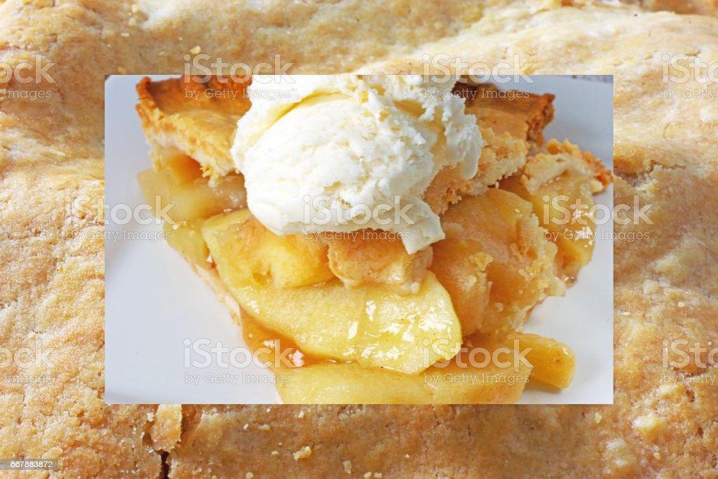 apple pie on apple pie royalty-free stock photo