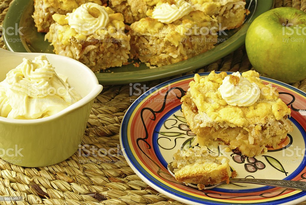 Apple pie on plate royalty-free stock photo