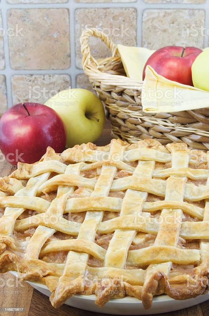 Apple pie stock photo