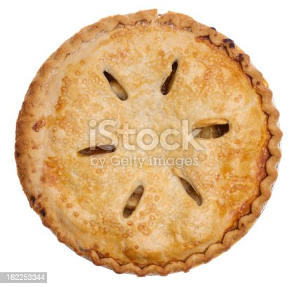 Apple pie isolated on white background.