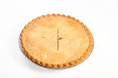 A slice of apple pie on a plate.  Clipping path included.Please see some similar pictures from my portfolio: