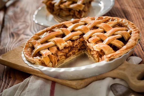 Pastel de manzana - foto de stock