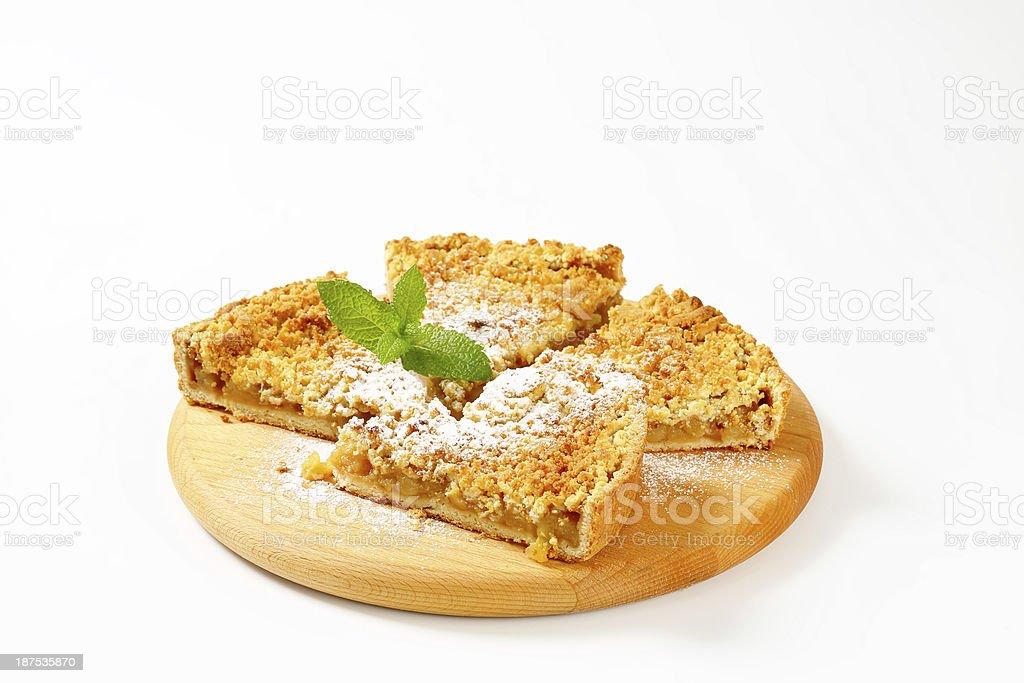 apple pie slices royalty-free stock photo