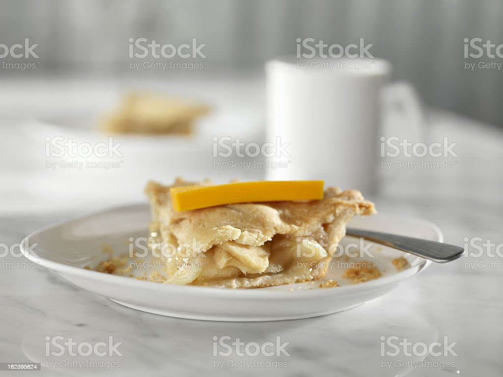 Apple Pie with Cheddar Cheese royalty-free stock photo