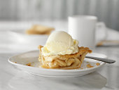 istock Apple Pie with Vanilla Ice Cream 182396588
