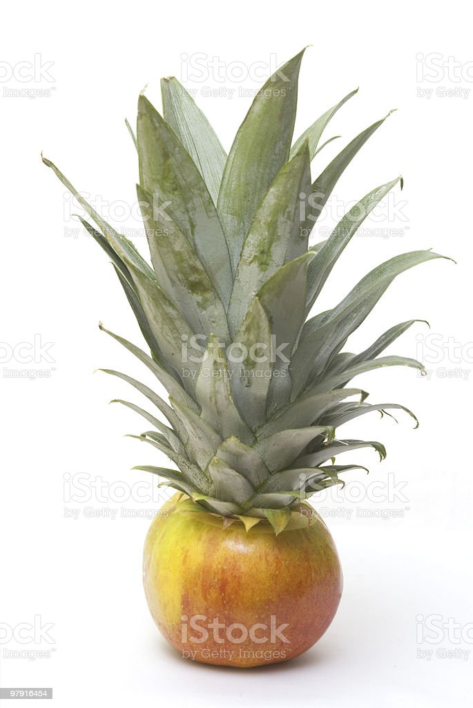 Apple pineapple royalty-free stock photo