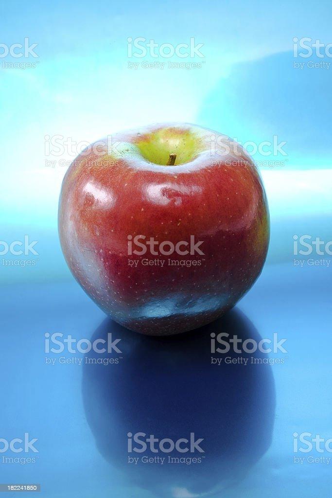 Apple reflections stock photo
