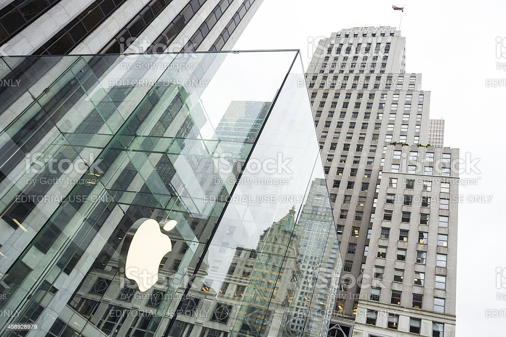 Apple Retail Store Fifth Avenue, New York City royalty-free stock photo