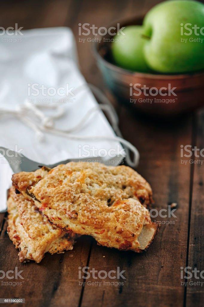 Apple scones stock photo