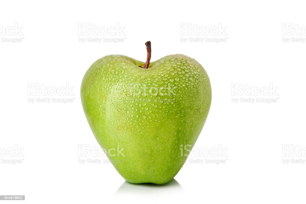 Apple shapped as heart stock photo