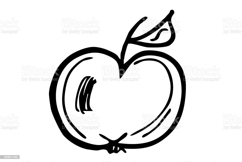 apple silhouette royalty-free stock photo