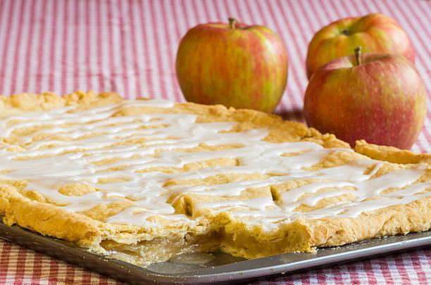 Apple slab pie with apples stock photo