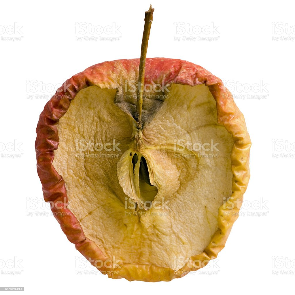 Apple Slice in Decay - Isolated stock photo